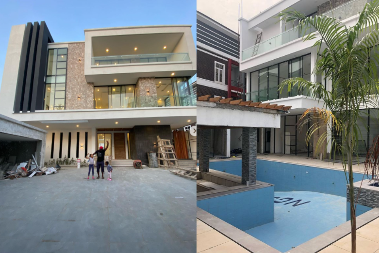 """""""Let's say Xmas gift came early"""" - Jude Okoye shows off his newly built home in Lagos  (Photos)"""
