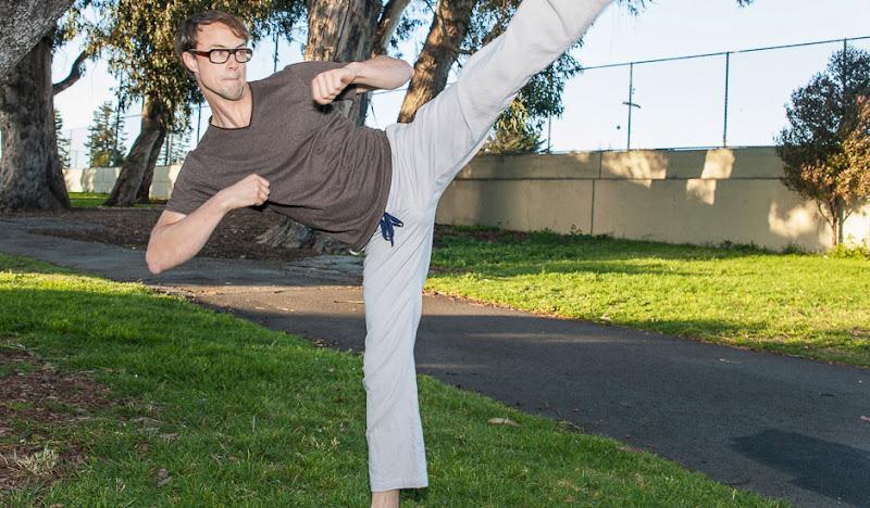 Casual Karate High Kick