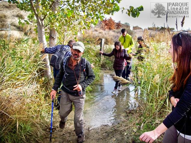 Momento en el cual pasamos el arroyo del Congosto