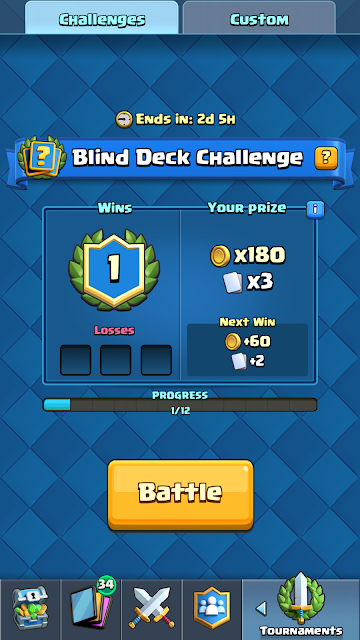 Blind Deck Challenge Clash Royale
