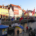beatiful view of nyhavn in Copenhagen, Copenhagen, Denmark