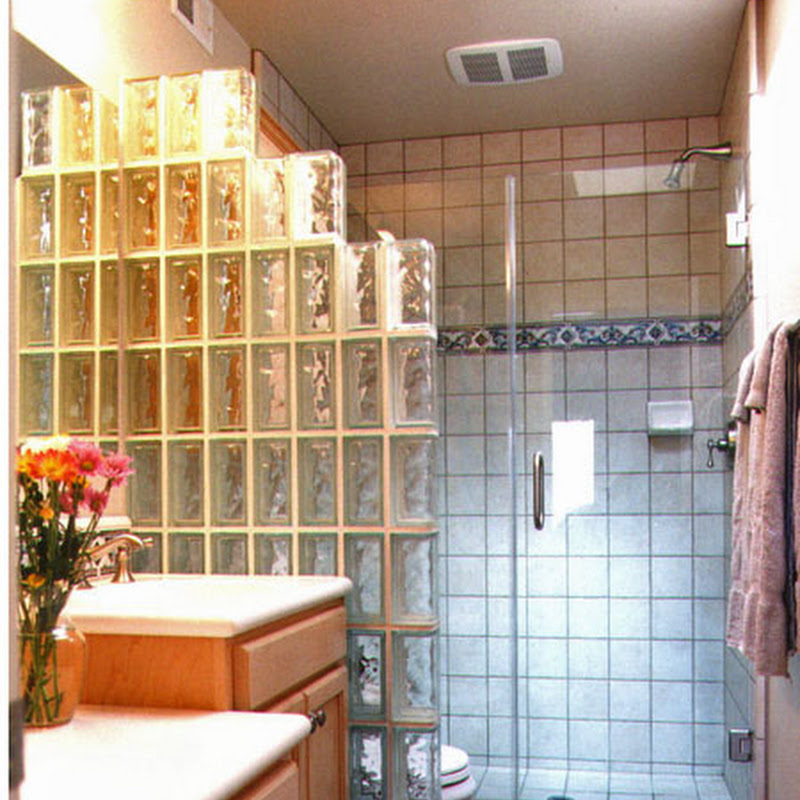 Master Bathrooms With Glass Block