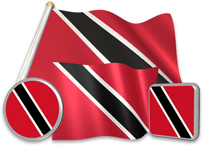 Trinidadian or Tobagonian flag animated gif collection