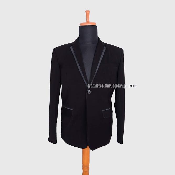 limited shoping bk05 blazer single button list satin