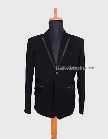 limited shoping bk05 blazer single button list satin
