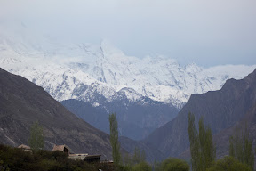 The valley of snow paved mountains; Hunza