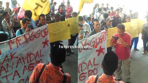 Ini 6 Tuntutan Petani Pasir Datar di Gedung Rakyat DPRD Kabupaten Sukabumi