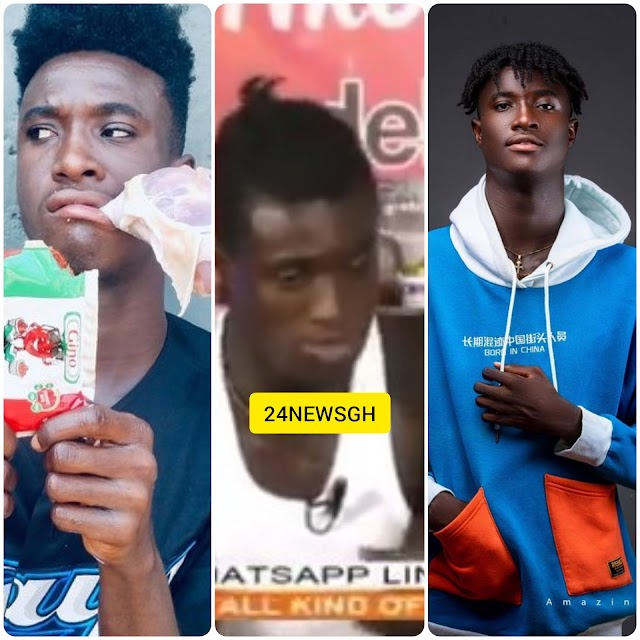 Young Man Spotted Eating Bread With So Klin On Live Tv Pops Up Online - VIDEO