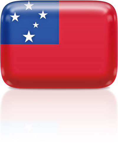 Samoan flag clipart rectangular