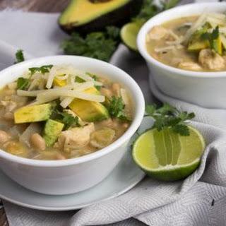Creamy Mexican Chicken Chili Soup.