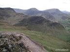 Looking back at the ridges of Hindscarth and Robinson
