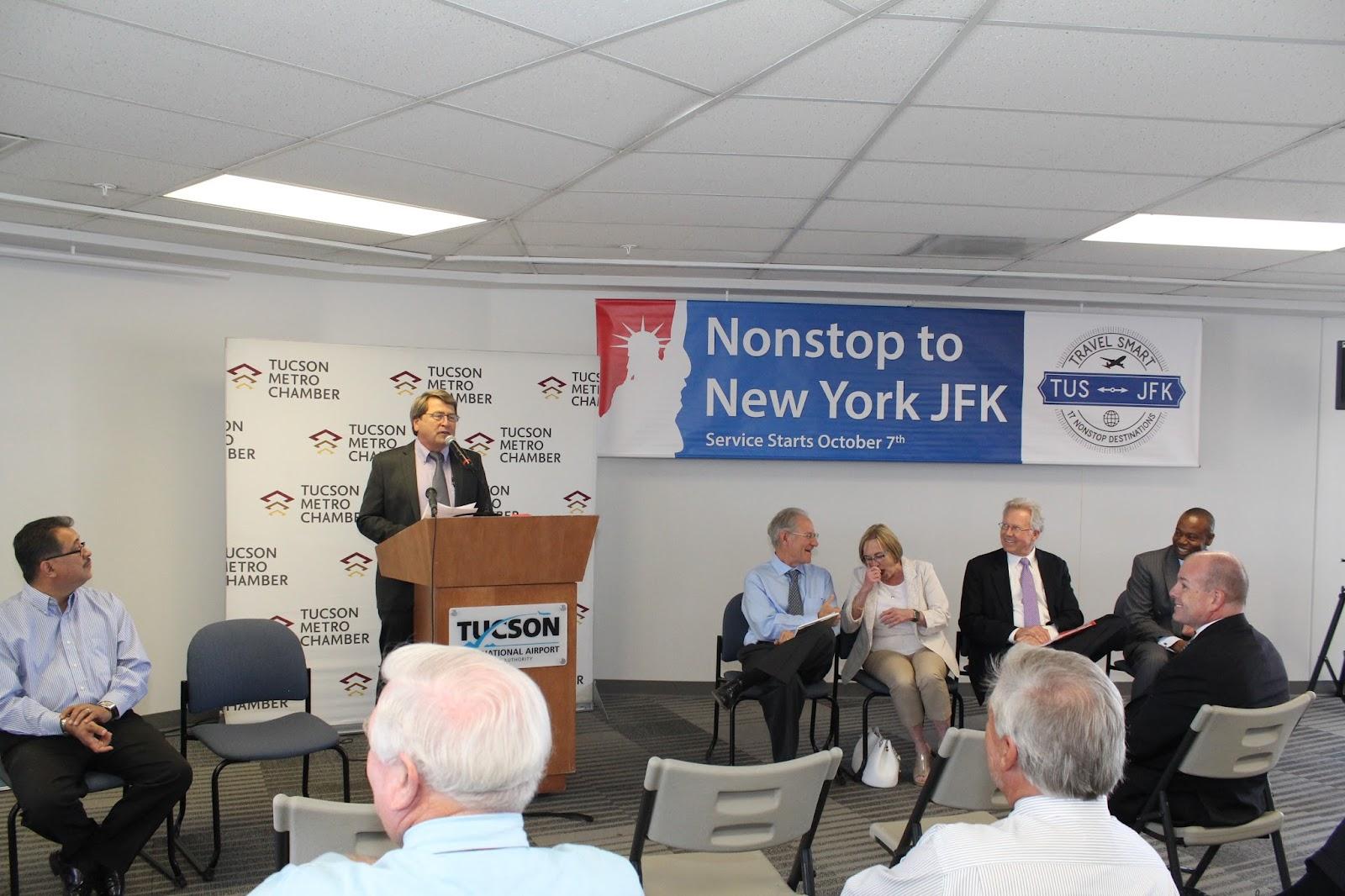 Tucson - JFK Non-Stop Route Announcement - IMG_3171.JPG
