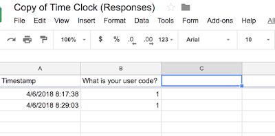 Google Forms and Sheets Time Clock Query - Google Product Forums