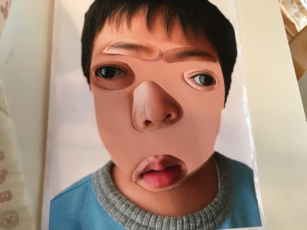 作り方福笑いを子供の写真を印刷して自作 ひなぴし
