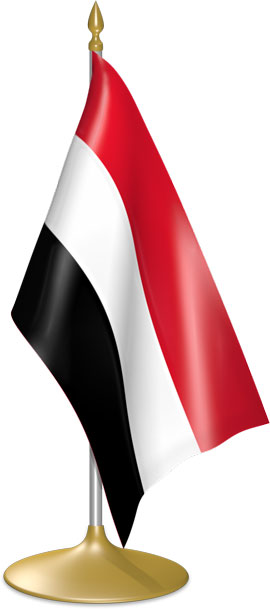 Yemeni table flags - desk flags