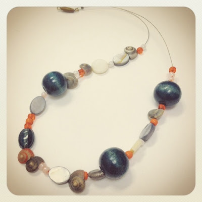 handmade necklace inspired by rothko painting