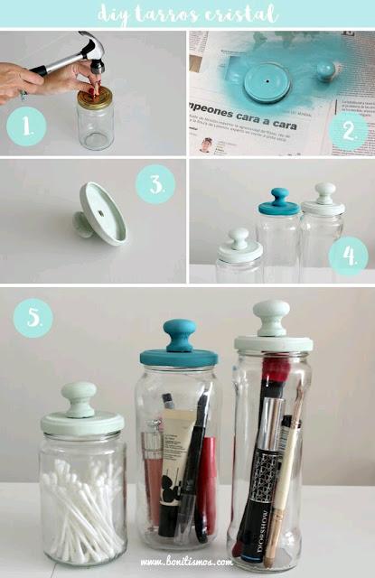 M s y m s manualidades recicla y decora frascos de vidrio for Agarraderas para puertas de vidrio