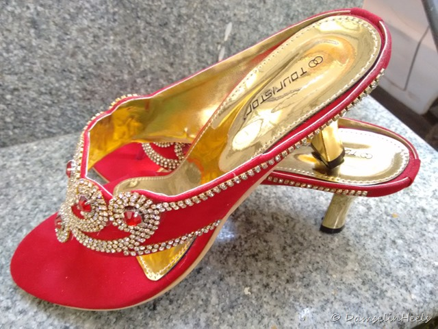 Touristor studded heels