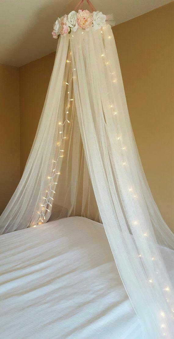 Mi fiesta creativa crea f cilmente un dosel para cama de ni a - Dosel cama nina ...