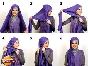 cara memakai jilbab pashmina, cara memakai jilbab modern, cara memakai ...