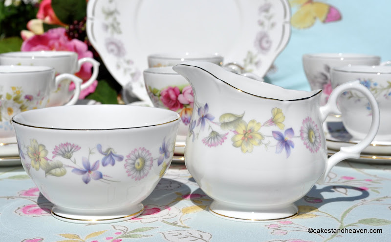 Duchess Spring Days vintage cream jug and sugar bowl