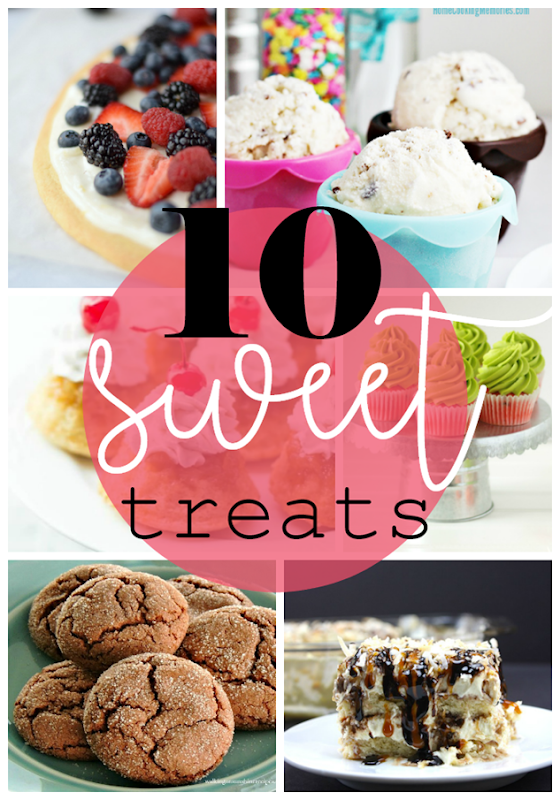 10 Sweet Treats at GingerSnapCrafts.com #sweets #recipes