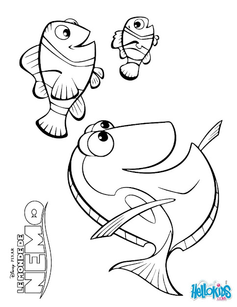 Finding Nemo Coloring Pages Marlin Dory And Nemo Coloring Pages Hellokids  To Download