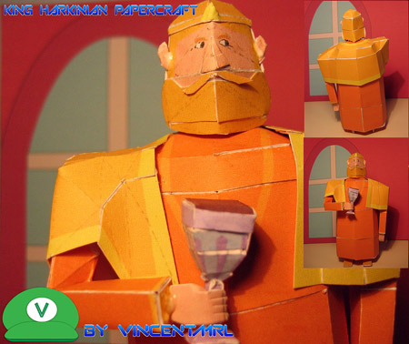 King Harkinian Papercraft
