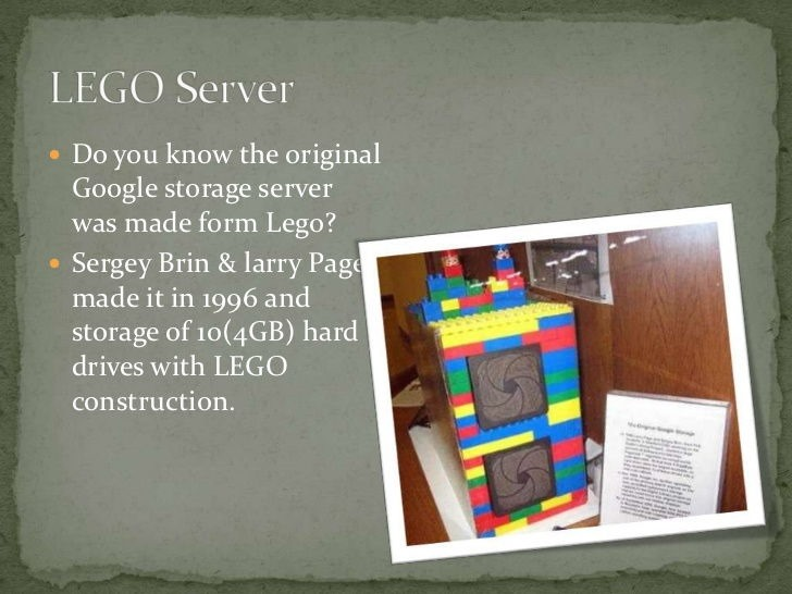 google first server was made from lego