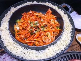 Kobi Korean BBQ Thornhill: chicken, squid and cheese