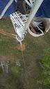 Looking down microwave tower