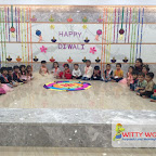Diwali Celebration of Nursery Afternoon Section at Witty World, Chikoowadi (2017-18)