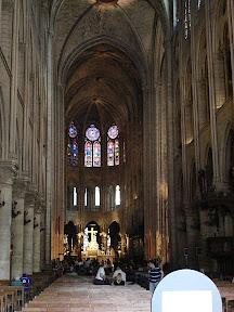 Nave of Notre Dame de Paris