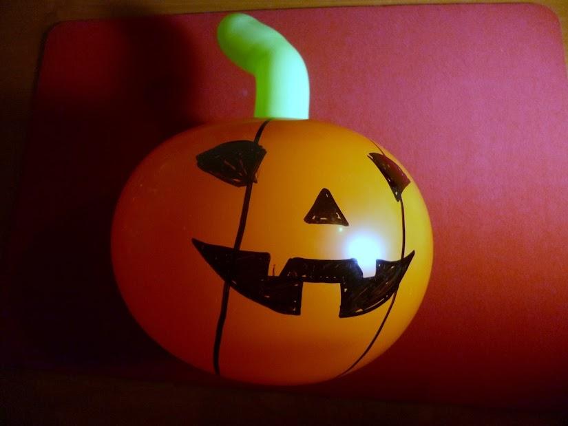 calabaza de globoflexia para halloween