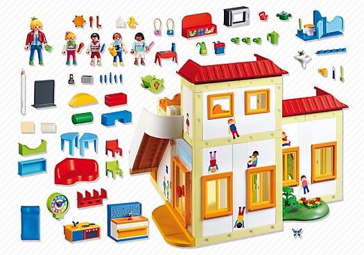 Contenido real de Playmobil® 5567 Guardería