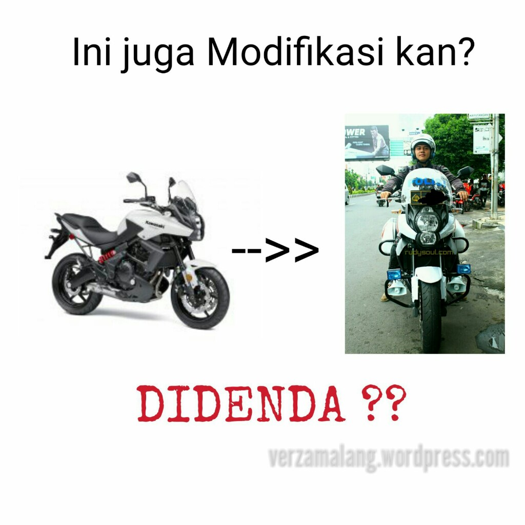 Modifikasi Motor Yang Dilarang Polisi Motor Motor Unik