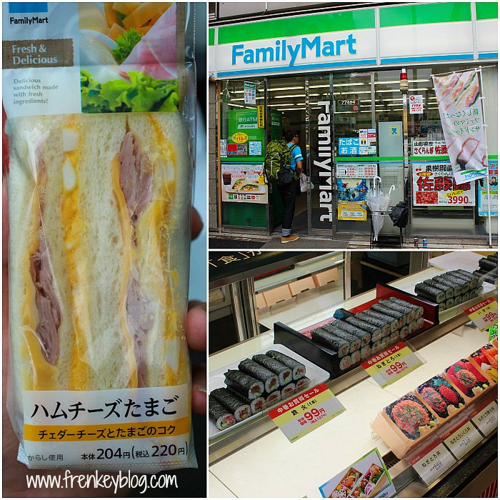"Sarapan Sandwich Pagi itu, Family Mart dekat Hostel, Sushi ""Cukup"" Murah"