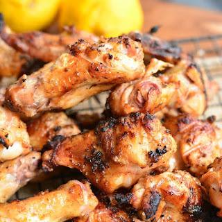 Lemon Pepper Grilled Chicken Wings.