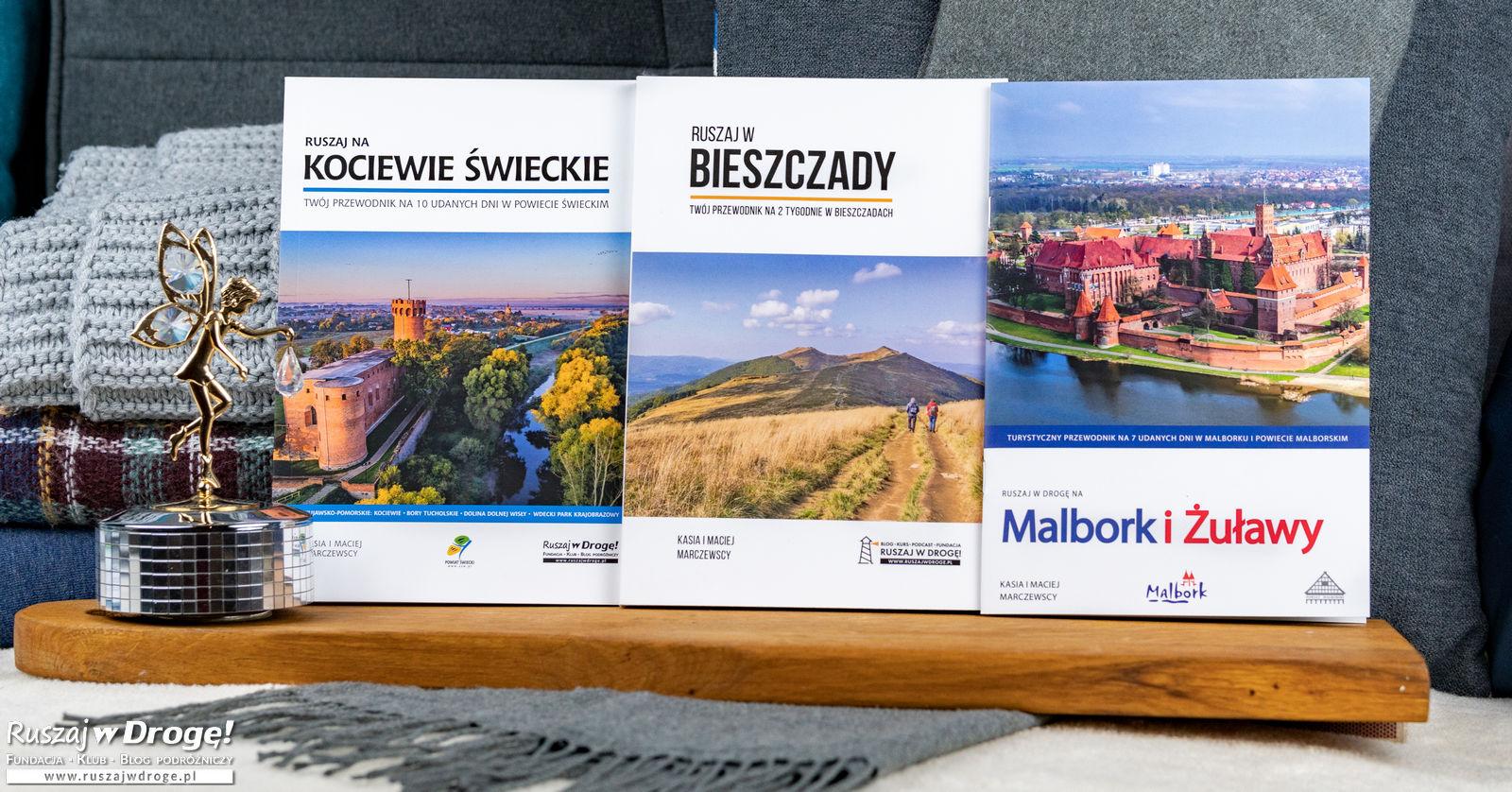 (PAKIET 2+1) Przewodnik: Bieszczady, Kociewie Świeckie + Malbork i Żuławy. Plan na 31 dni w drodze!