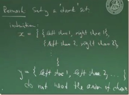 physics set theory axiom choice 2