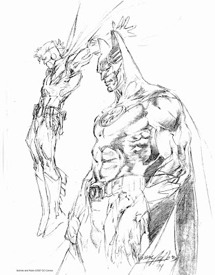 Batman and Robin sketch by Neal Adams