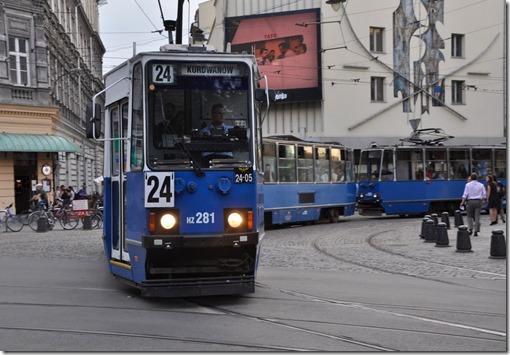 8 vieux tram de Cracovie