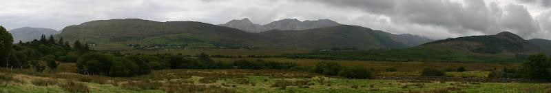 Maumturk Mountains panorama