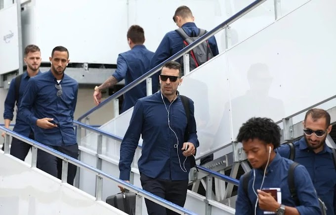 Juventus arrived cardiff for UEFA Champions league final clash