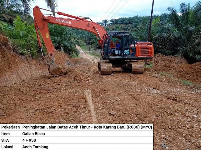 Pelaksanaan Pembangunan Jalan Multi Year Bandar Pusaka - Batas Aceh Timur Dimulai