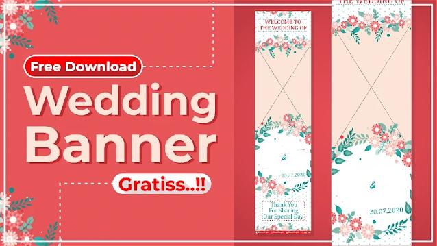Download Banner Pernikahan CDR Gratis