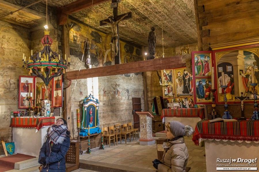 Wnętrza Kościółka UNESCO w Lipnicy Murowanej
