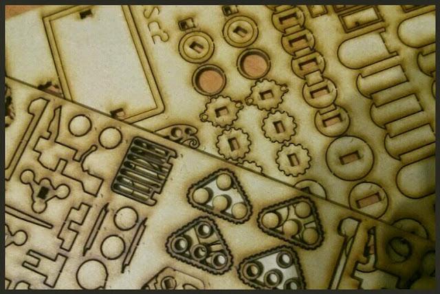 hoja de madera lásercut miniature Scenery