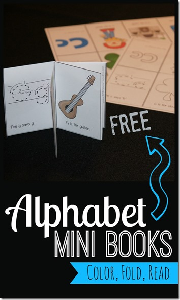 FREE Alphabet Mini Books - LOVE these! Toddler, Preschool and Kindergarten age kids will learn alphabet letters, sounds, and vocabulary with these alphabet books. There is a mini book for each alphabet letter.