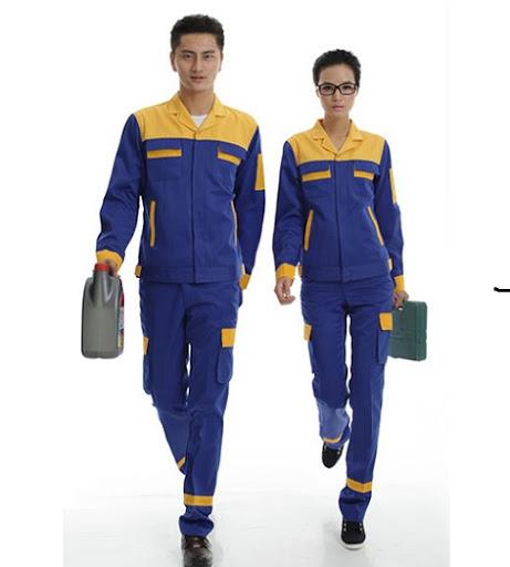 Quần áo bảo hộ lao động xanh vàng - QAK0010